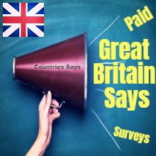 Internet Great Britain Says Surveys in Great Britain Paid Surveys Great Britain Working on the Internet