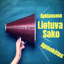 Lietuva Sako Japan Says 